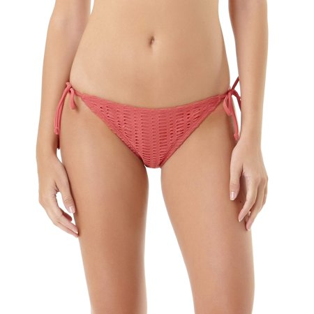fb3ecc4a95ba3 No Boundaries - Juniors' Crochet Side Tie Scoop Bikini Bottom ...