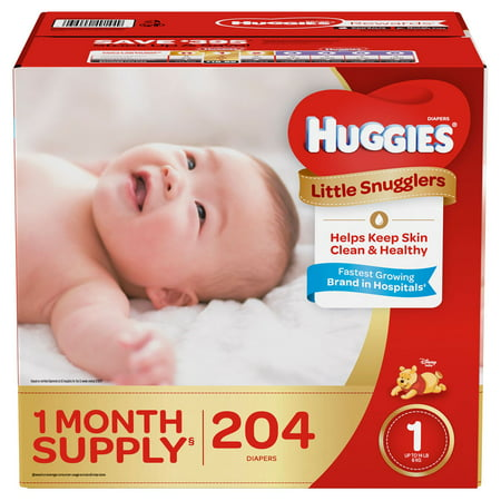 Huggies Little Snugglers Diapers Size 1 -204 ct. (Up to 14