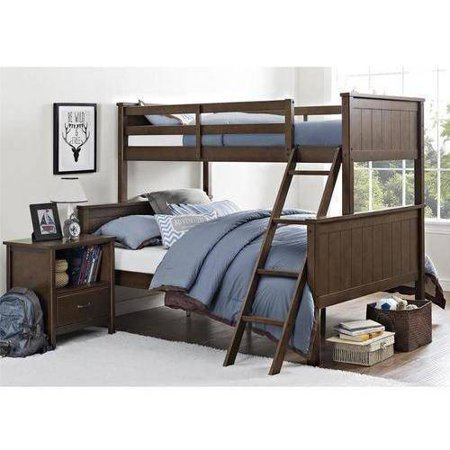 Better Homes Gardens Twin Over Full Wood Bunk Bed Mocha
