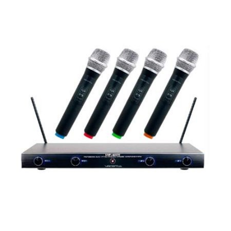 Vocopro VHF4005-2 M, N, O, P Frequency Four Channel Rechargeable Vhf Wireless Microphone System