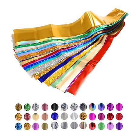 50 Colors Nail Art Transfer Foils Sticker Beauty Star Design Nail Polish DIY Nail Tips Decorations Accessories - Polish Decorations