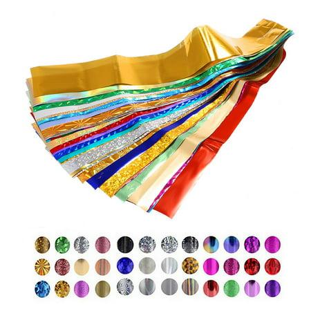 Polish Decorations (50 Colors Nail Art Transfer Foils Sticker Beauty Star Design Nail Polish DIY Nail Tips Decorations)