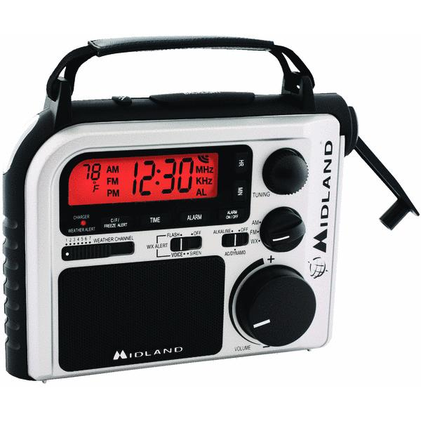 Midland Emergency Crank Radio with AM/FM and Weather Alert