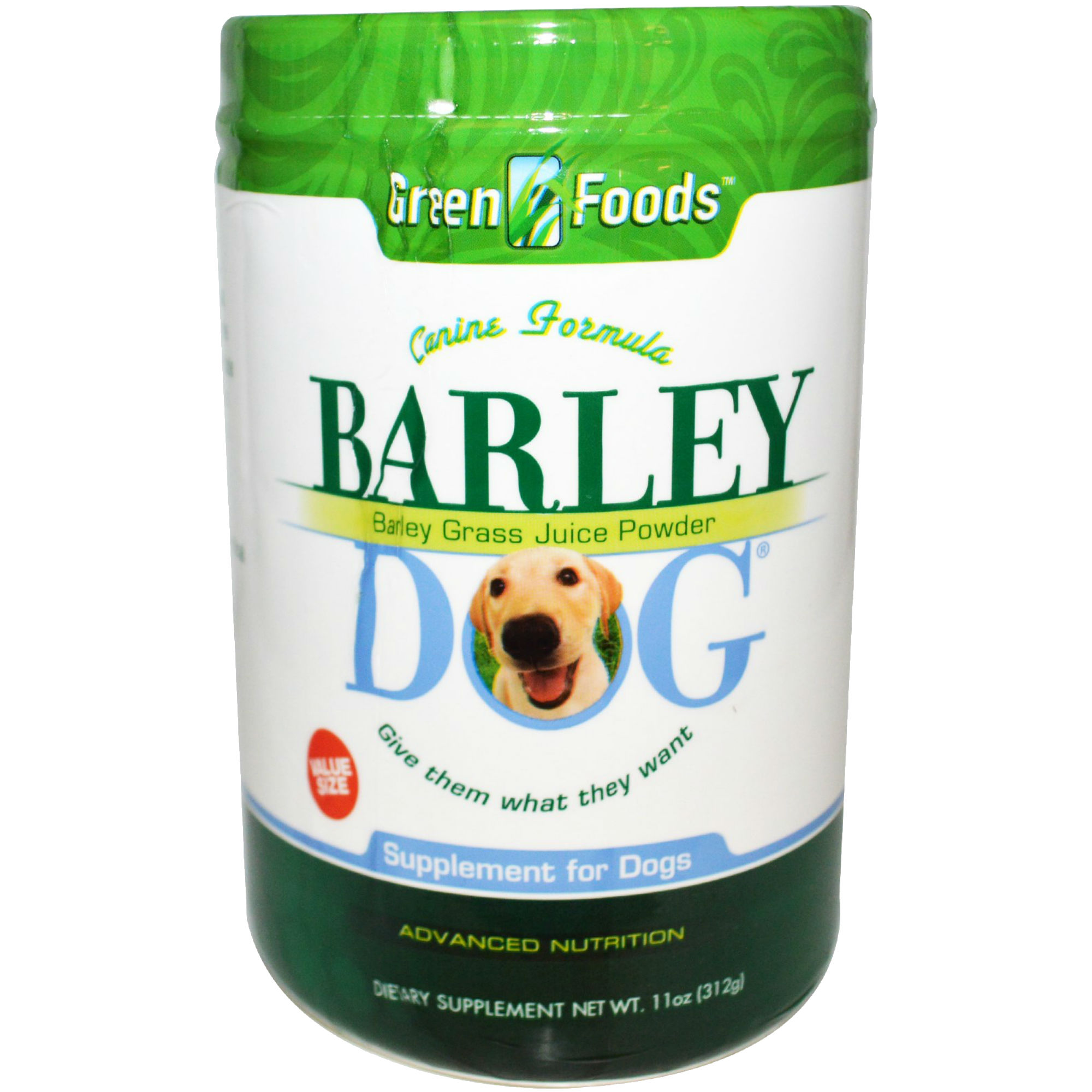 Green Foods Barley Dog 11 oz.