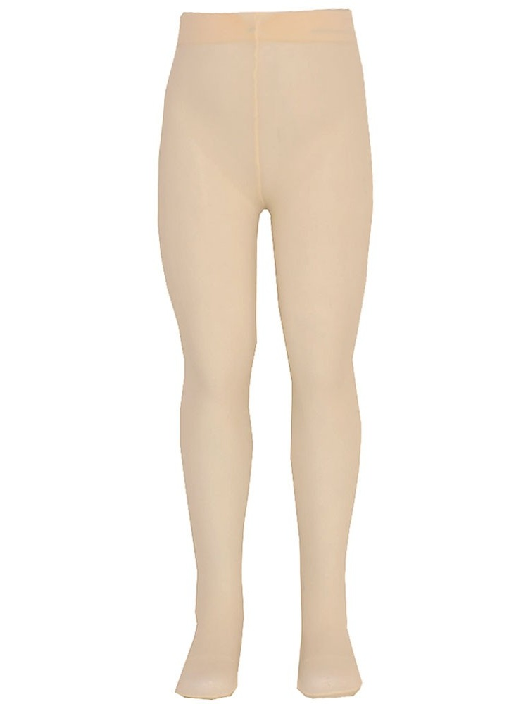Nicole Little Girls Ivory Solid Color Soft Stretchy Opaque Tights 2T-6