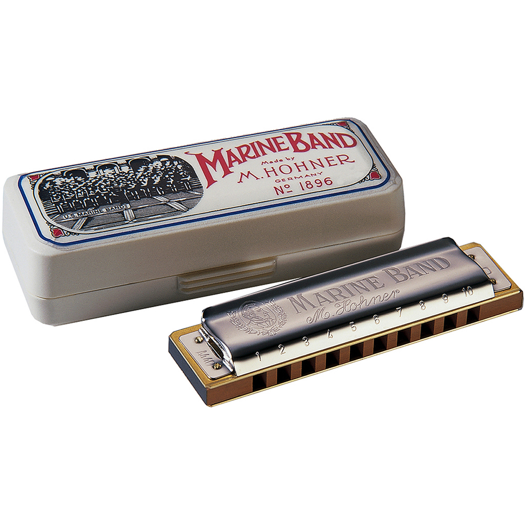 Hohner Marine Band Diatonic Harmonica, Key of C Major