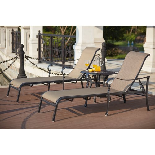 Darby Home Co Wabon 3 Piece Chaise Lounge Set