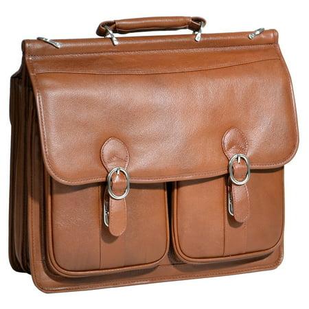 McKleinUSA HAZEL CREST 15604 Brown Leather Double Compartment Laptop - Double Compartment Business Case