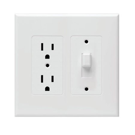 Hubbell Taymac - 2772W Masque Revive Duplex/Toggle Cover Up Wall Plate - White