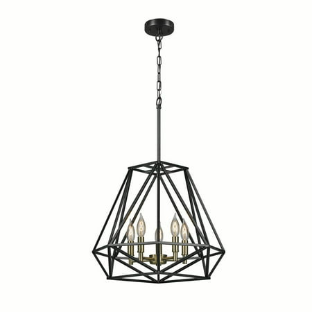 Globe Electric Sansa 5-Light Dark Bronze Chandelier, 65435