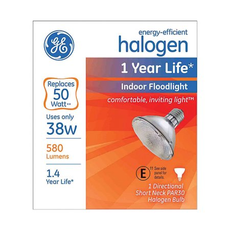 - 6/Pack Ge 69166 Bulb Hal Flood 38W Par30