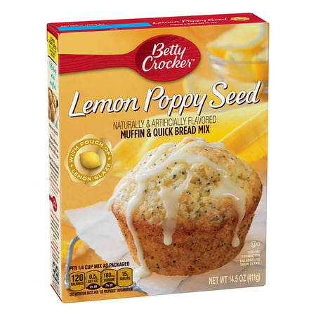 (12 Pack) Betty Crocker Lemon Poppy Seed Muffin and Quick Bread Mix, 14.5 (Poppy Seed Bread Mix)