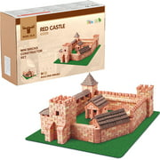 Mini bricks construction set Red Castle 1800 pcs. Glue included. Red