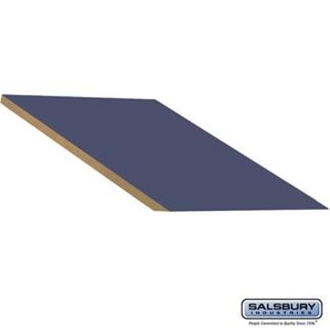 SalsburyIndustries 22289BLU 24 in. Deep Extra Wide Designer Wood Locker In-Line Sloping Hood Filler - Blue