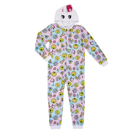 Emojination Girls' Hooded Blanket Sleeper (Little Girls & Big Girls)