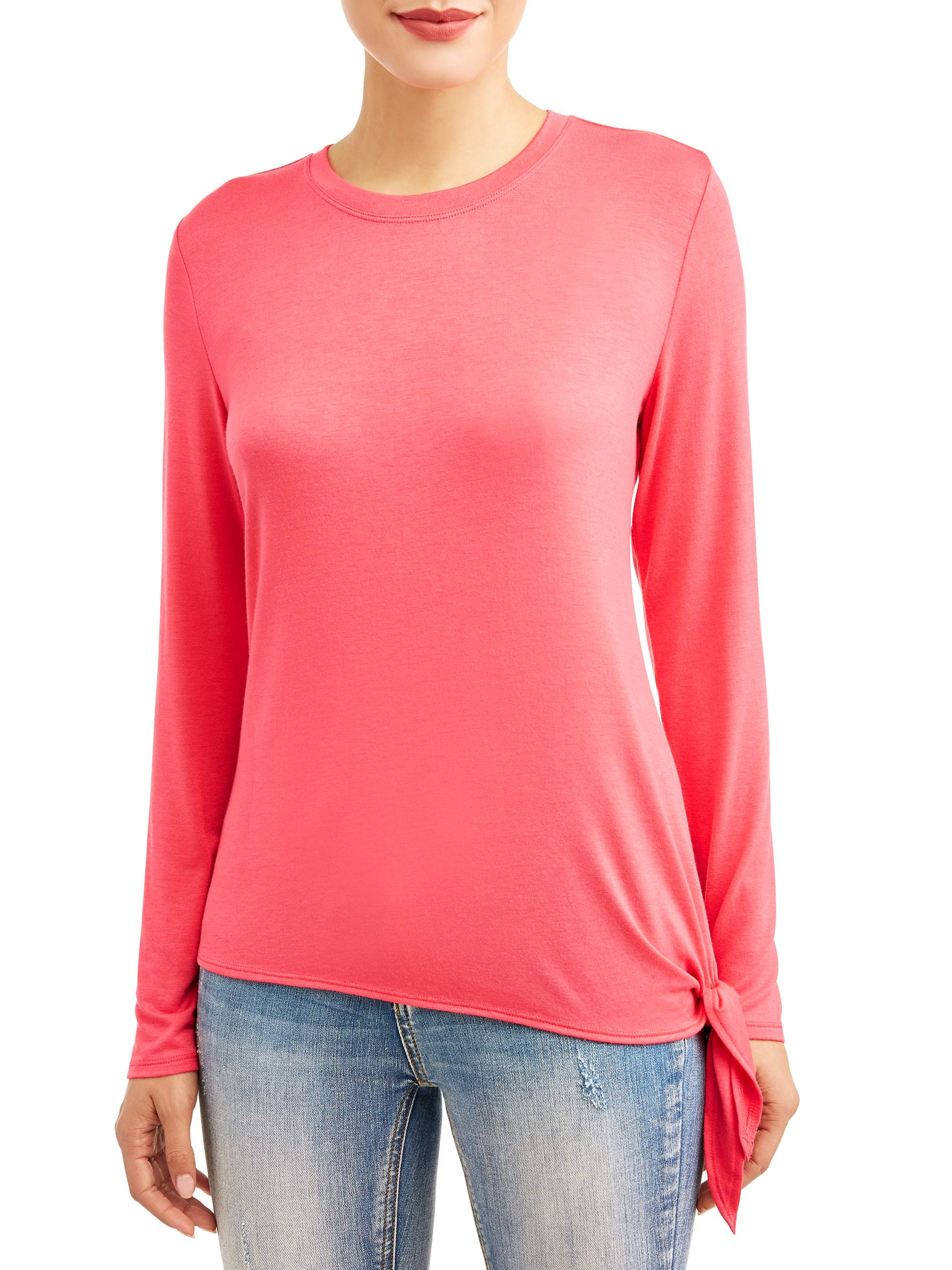 Women's Long Sleeve Side Tie Tunic