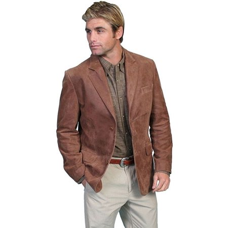 Scully Western Blazer Mens Contemporary Classic Brown 401-63 - Mens Brown Beaver