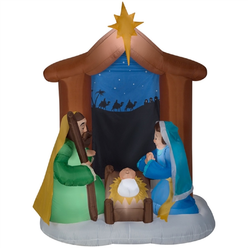 Holiday Living Airblown 6.5 Ft. Nativity Scene Inflatable