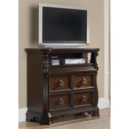 Liberty Furniture Arbor Place 2 Drawer Media Chest in Brownstone