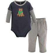 Hudson Baby Boy Long Sleeve Bodysuit and Pant 2pc Outfit Set