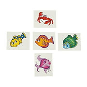 Tropical Fish Tattoos (72 Pc) - Apparel Accessories - 72 Pieces