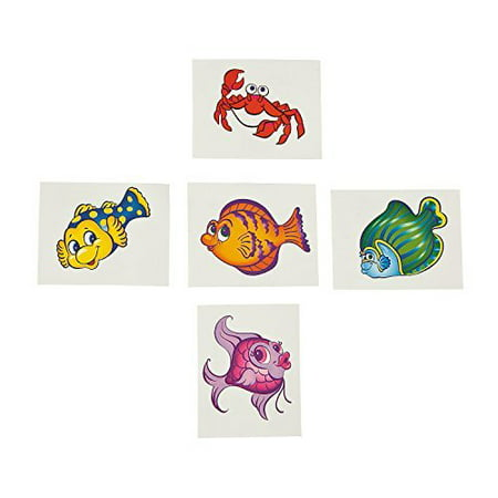 Fun Express Tropical Fish Tattoos (6 dz) - Tattoos Of Fish
