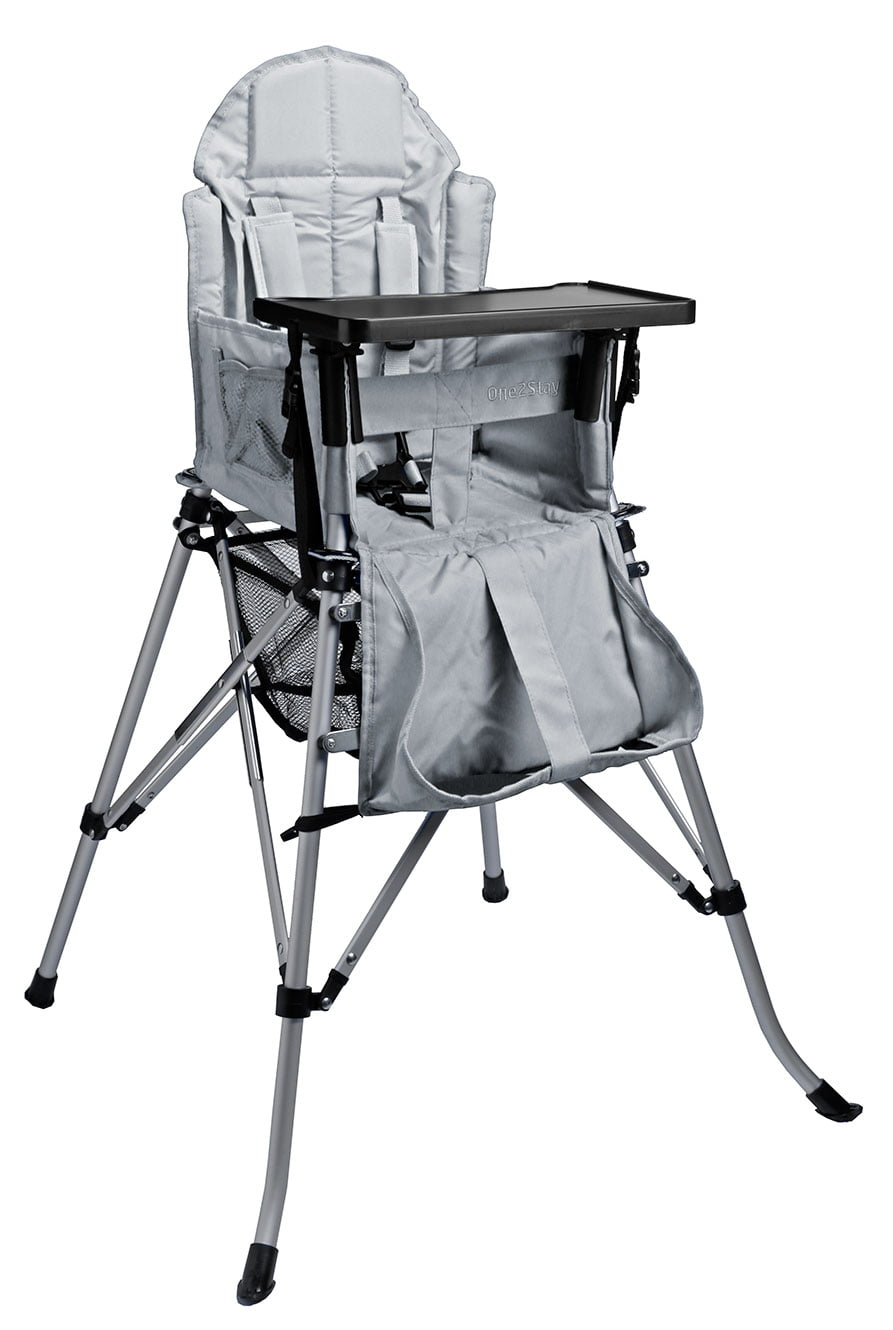 One2Stay Gray Recline Infant & Baby High Chair by One2Stay