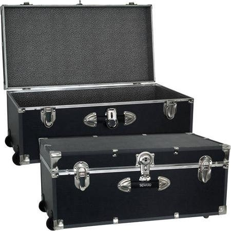 "Mercury Luggage Seward Trunk Wheeled Storage Footlocker, 30"" (Black)"