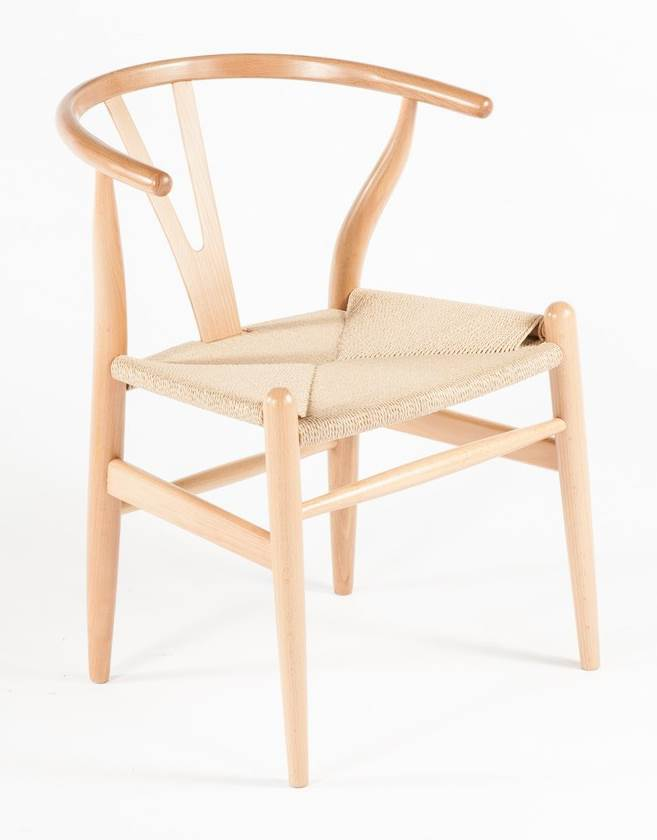 The Wishbone Chair   Natural/Yellow Strings