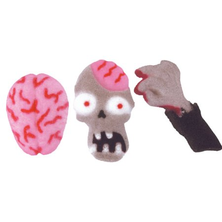Zombie Halloween Food Ideas (Halloween Zombie Attack Edible Sugar Decorations - 12 Count - 48575 - National Cake)