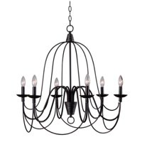 Design Craft Alma Blackened Oil Rubbed Bronze 6-light Chandelier