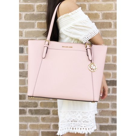 Michael Kors Ciara Large East West Top Zip Tote Pastel Pink Saffiano