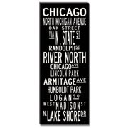 Uptown Artworks Chicago by Uptown Artworks Framed Textual Art on Wrapped Canvas
