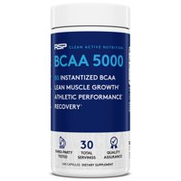 RSP Nutrition BCAA 5000, BCAA Capsules, Post Workout, Muscle Recovery, Endurance & Energy, 240 Ct