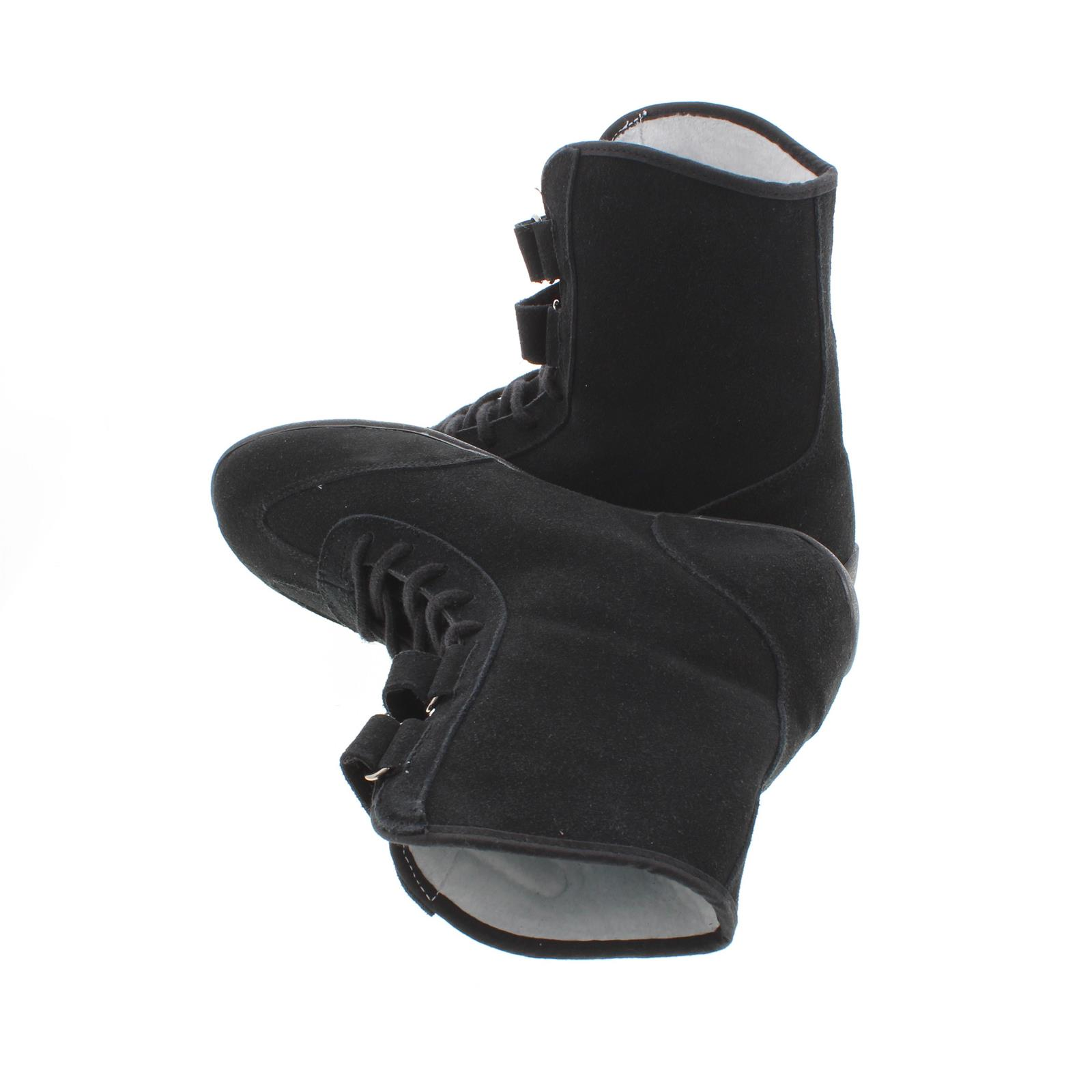 SFI 3.3//5 Flexible Leather Black Hightop Racing Shoes 9