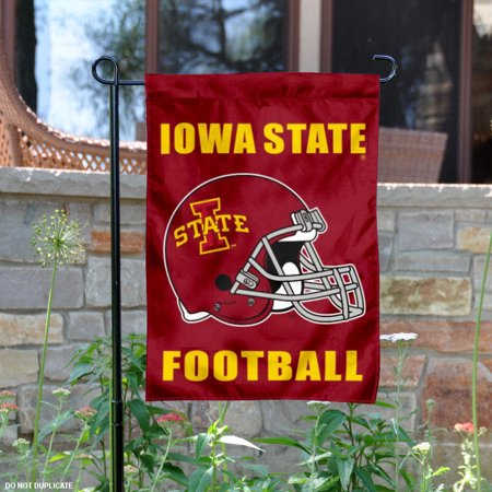 "Iowa State Cyclones Football Helmet 13"" x 18"" College Garden Flag"