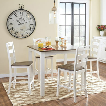 Signature Design by Ashley Woodanville Square 5 Piece Counter Height Dining Table Set 5 Piece Counter Height Table