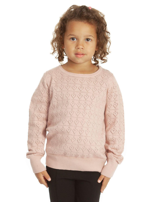 Little Girl's Pointelle Hem Sweater