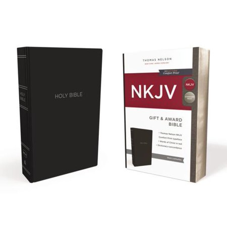 NKJV, Gift and Award Bible, Leather-Look, Black, Red Letter Edition