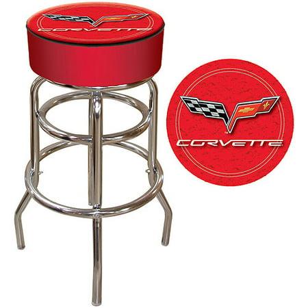 """Trademark Global Corvette C6 30"""" Padded Bar Stool, Red"""