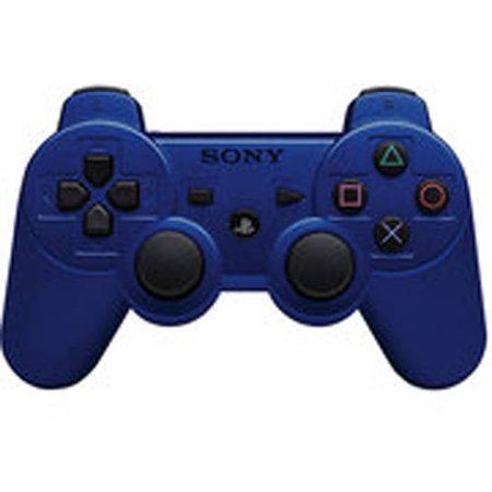 Sony dual shock 3 metallic blue ps3 for Housse manette ps4