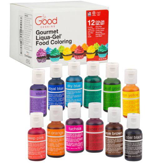 Food Coloring Liqua Gel 12 Color Variety Kit In 75 Fl