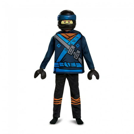 Jay Ninjago Costume (Boys' Lego Ninjago Movie Jay Deluxe Costume -Boys)