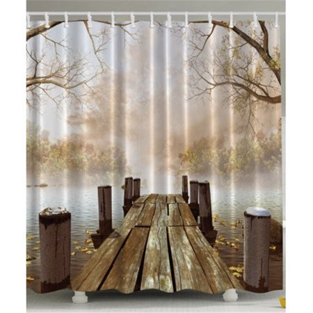 - Tayyakoushi Country Theme Shower Curtain Bridge Surface Scenery Polyester Fabric Mildew Resistant And Waterproof Bath Curtains 72'' x 72'' Extra Long
