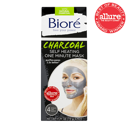 Biore Charcoal Self Heating One Minute Face Mask - 4 PK