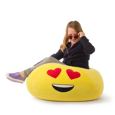 "GoMoji Bean Bag Char, Multiple Patterns - 28"" x 28"" x 14"""