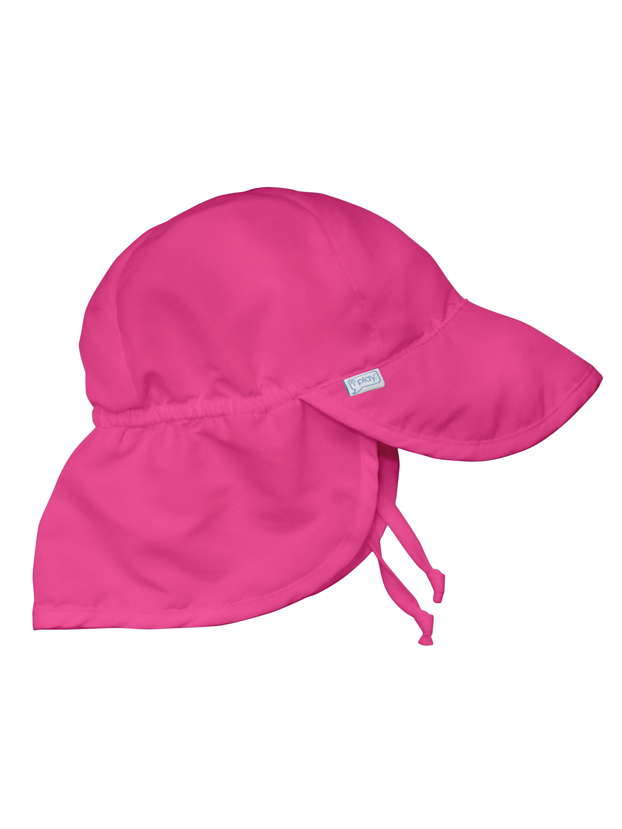 Flap Sun Hat for Baby Girls Sun Protection Large Billed Hat Solid Hot Pink  Newborn 0-6 Mths Baby Girl Hat Is Adjustable To Fit Outdoor Hat With Chin  Strap ... 4f1620cfdbf