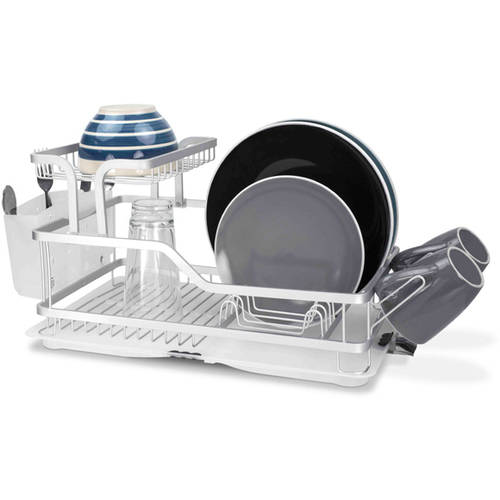 Home Basics 2-Tier Aluminum Dish Rack by Generic