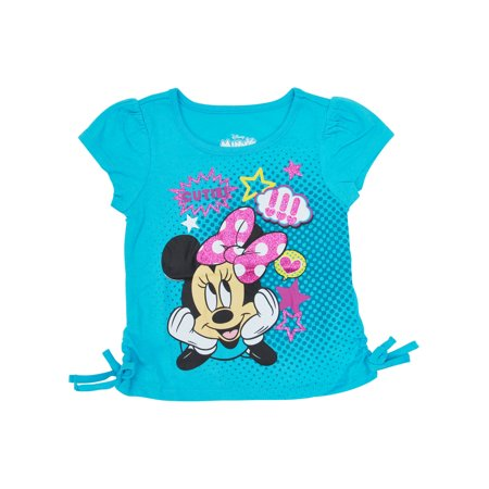 Toddler Girls Minnie Mouse Side-Tie T-Shirt Blue