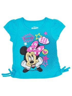 5fba5085497 Product Image Toddler Girls Minnie Mouse Side-Tie T-Shirt Blue